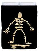 Skateboard Skeleton Duvet Cover