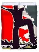 Skateboarder Duvet Cover