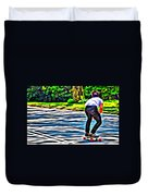Skateboarder In Central Park Duvet Cover