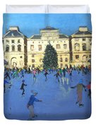 Skaters  Somerset House Duvet Cover by Andrew Macara