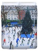 Skating  Natural History Museum Duvet Cover by Andrew Macara