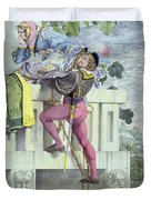 Sketch For The Passions Love Duvet Cover by Richard Dadd