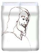 sketch of Jesus Duvet Cover