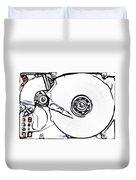 Sketch Of The Hard Disk Duvet Cover by Michal Boubin