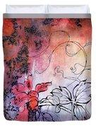 Sketchflowers - Calendula Duvet Cover
