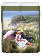 Sketching Vineyard Dunes Duvet Cover