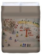 Ski Area Duvet Cover