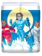 Ski Fun Art Duvet Cover