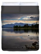 Skiddaw And Derwent Water At Dawn Duvet Cover