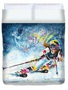 Skiing 03 Duvet Cover