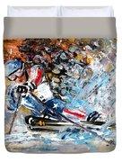 Skiing 04 Duvet Cover