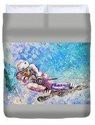 Skiing 06 Duvet Cover