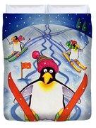 Skiing Holiday Duvet Cover