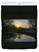 Skippack Creek Sunrise Duvet Cover