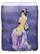 Skiyu Purple Robe Duvet Cover by Haruyo Morita
