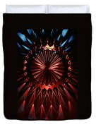 Skc 0285 Cut Glass Plate In Red And Blue Duvet Cover