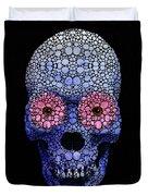 Skull Art - Day Of The Dead 1 Stone Rock'd Duvet Cover