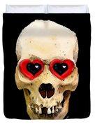 Skull Art - Day Of The Dead 2 Duvet Cover by Sharon Cummings