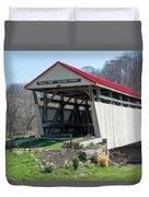 Skull Fork Covered Bridge Duvet Cover