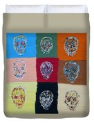 Skull Pop Nine Duvet Cover