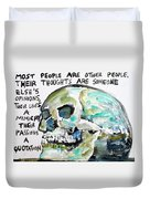 Skull Quoting Oscar Wilde.10 Duvet Cover