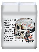 Skull Quoting Oscar Wilde.3 Duvet Cover