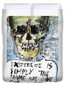 Skull Quoting Oscar Wilde.4 Duvet Cover
