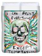 Skull Quoting Oscar Wilde.7 Duvet Cover