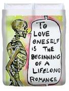 Skull Quoting Oscar Wilde.9 Duvet Cover