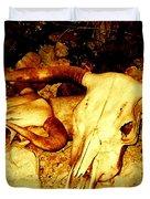 Skulls In Sepia Duvet Cover