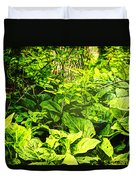 Skunk Cabbage Thicket Duvet Cover