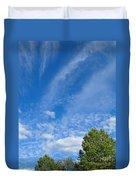 Sky Blue Summer Art Duvet Cover
