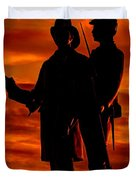 Sky Fire - 73rd Ny Infantry Fourth Excelsior Second Fire Zouaves-b1 Sunrise Autumn Gettysburg Duvet Cover