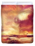 Sky Fire Abstract Realism Duvet Cover