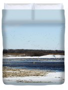 Sky Full Of Ducks Duvet Cover