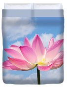 Sky Lotus Duvet Cover