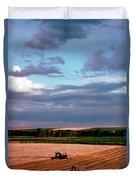 Sky Over Harvest Duvet Cover