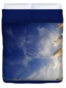 Sky Plane Bird From The Series The Imprint Of Man In Nature Duvet Cover
