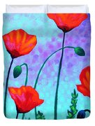 Sky Poppies Duvet Cover