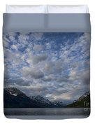 Sky Water Mountains Duvet Cover
