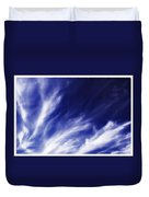 Sky Wisps Blue Duvet Cover