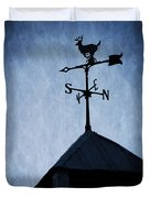 Skyfall Deer Weathervane  Duvet Cover by Edward Fielding