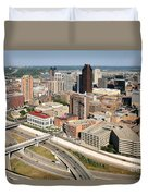 Skyline Aerial Of St. Paul Minnesota Duvet Cover