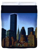 Skyline From Roosevelt Island Duvet Cover