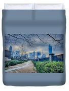 Skyline Of A Big City In South - Charlotte Nc Duvet Cover