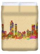 skyline of Atlanta Georgia Duvet Cover
