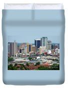 Skyline Of Birmingham Duvet Cover