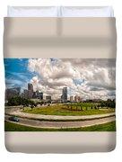 Skyline Of Charlotte Towers Duvet Cover
