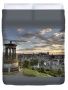 Skyline Of Edinburgh Scotland Duvet Cover