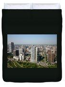 Skyline Of Milwaukee Wisconsin Duvet Cover